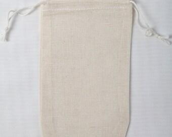 Fabriqué dans les Etats-Unis 3 x 5 pouces Double cordon de serrage mousselines