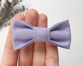 Baby girl headband - fabric loop and child - purple