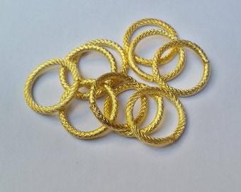 Jump rings 16 x 2 mm gold x 10
