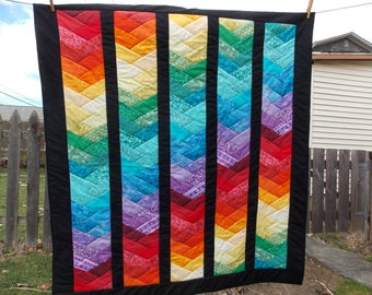 Rainbow Braid Lap/Nap/Child's Quilt