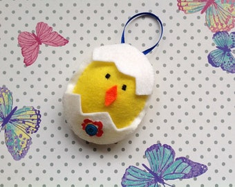 Easter Chick - Easter Yellow Chick - Chick Hair Clip - Chick Decoration- Easter Gift - Hanging Easter Chick - Easter Egg Chick