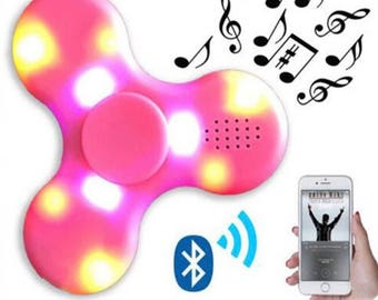 Bluetooth lighted spinner
