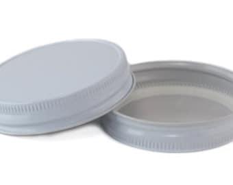 12 pcs White Mason Jar Lid for Regular Mouth Mason Jars- BPA Free, Plastisol Lined