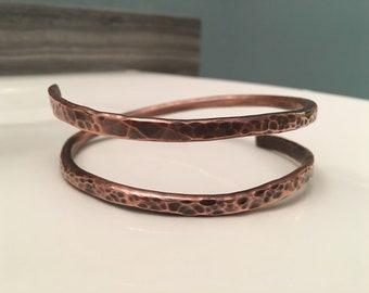Copper Curlicue Bracelet