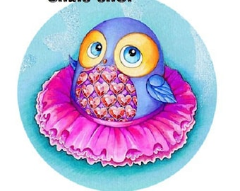 25mm OWL with pink tutu