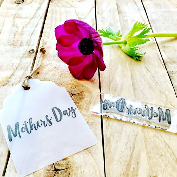 Mothers Day Rubber Stamp - Mothers Day - Mothers Day Clear Stamp - Mothers Day - Mothers Day Gift - Little Stamp Store - Gift for mum