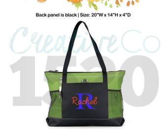 Custom Zippered Tote Bag | Zippered Tote Bag | Custom Tote Bag | Tote Bag | Monogrammed Tote Bag | Monogrammed Tote Bag | Bridesmaids Gifts