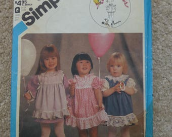 Simplicity vintage pattern 6502 childrens dress all sizes
