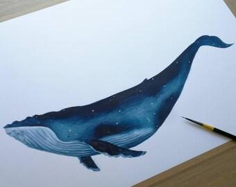 The Sky Whale XIV original drawing