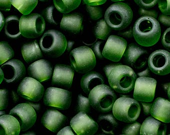 6/0 Toho Seed Beads - Olivine Transparent Frost - 4243 - Color # 6-940f - 16 Grams