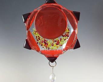 Chakra Two - Svadhisthana - Sacral - Orange Fused Glass Ornament Suncatcher