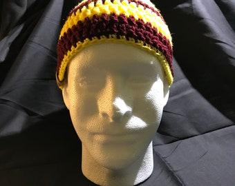 Crochet skullcap beanie