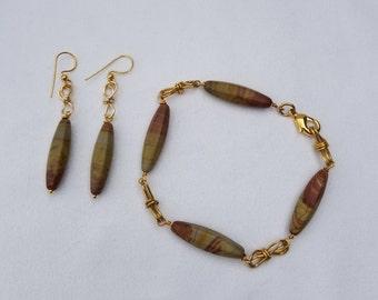 Jasper Bracelet & Earrings