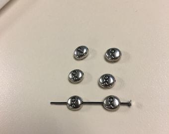Oval ribbon beads
