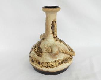 Dümler & Breiden 1105 / 22 Ceramic  Vase  with original rope 1970s   West Germany.