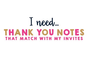 Matching Thank You Note for Invitation