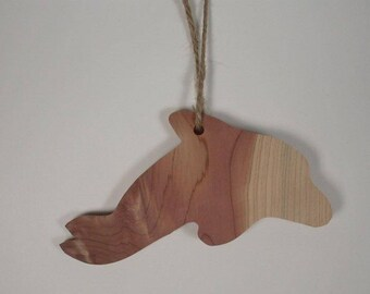 Cedar Silhouette Ornament: Dolphin (523-17)