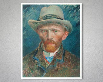 Otoportre by Vincent Van Gogh - Poster Paper, Sticker or Canvas Print / Gift Idea