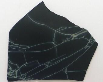 Spiderweb Obsidian Slab. Spider Web Obsidan Slab. Spiderweb Obsidian.