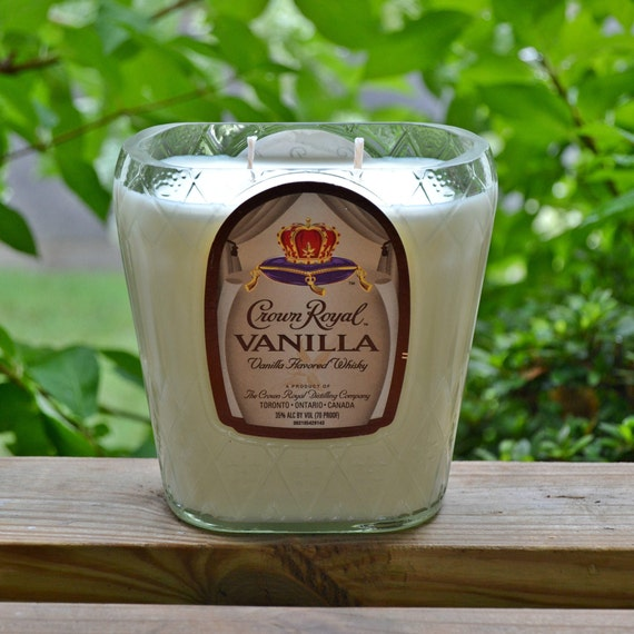 Crown Royal VANILLA Whisky Bottle Candle made with soy wax