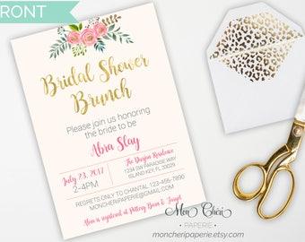 Floral Bridal Shower Invitation   Bridal Shower   Watercolor Floral    Bridal Party Invitation   Printable Invitation