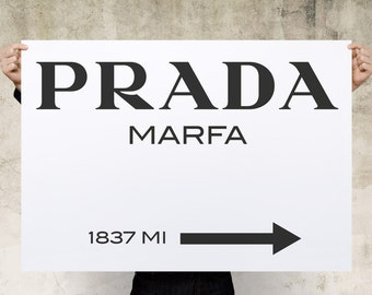 Prada Marfa Print Poster, Large Print, Canvas Print, Wall Art, Poster, Home Decor, Print Poster, Gift, Digital Art Print