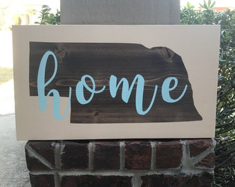 Home Sign, State Wood Sign, Custom State Sign, State Decor