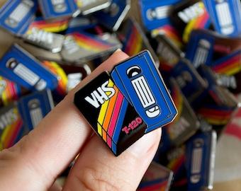 80's Retro Blank VHS Enamel Pin / Lapel Pin / Jewelry / Badge