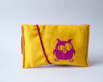 Tobacco pouch yellow - magenta, OWL