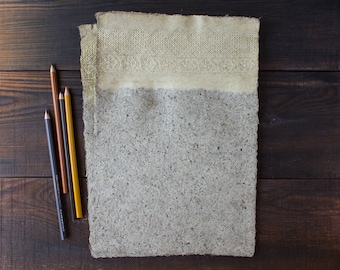 Handmade paper sheets - A4 - Decorative paper - Lace paper - Textured paper - Art paper - Eco friendly - Writing paper - Letter Paper(#29la)