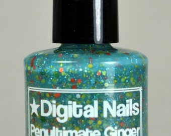 Penultimate Ginger: Amy Pond and  Doctor Who inspired glitter nail polish by Digital Nails