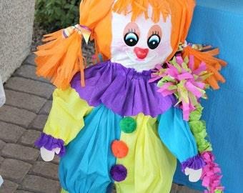 Clown Pinata, Carnival Party, Big Top, Circus Pinata
