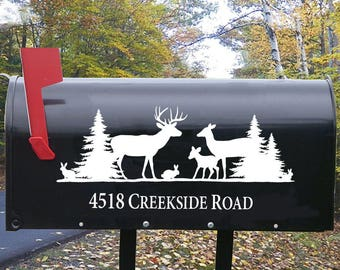 Mailbox Decal Deer, Deer Mailbox decal, mailbox decal deer, mailbox decal antlers, mailbox decal address, mailbox decal with deer