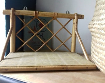 Perfect little vintage rattan/bamboo shelf... Perfect small vintage rattan / bamboo shelf