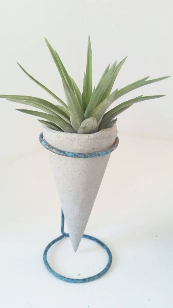 Mini Air Planter/Concrete Planter/Housewarming Gift/House Planter/Indoor Planter/Plant Hanger/Plant Lover Gift/Cone Air Planter