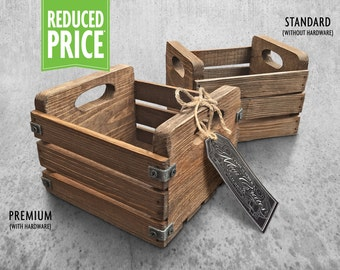 Rustic Mini Crate - Special Walnut