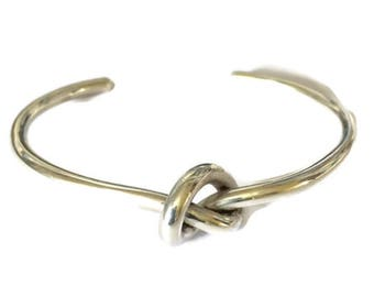 Sterling silver handemade knot bangle
