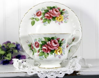 Royal Albert, Summertime Series, Westbury, Tea Cup and Saucer, English Bone China Teacups 13970