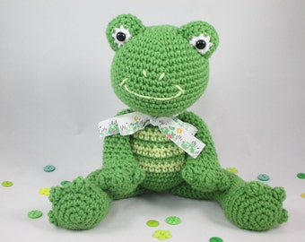 Stuffed Animal Frog Plush, Crochet Stuffed Toy, Crochet Green Frog, Toy Frog, Amigurumi Frog by CROriginals