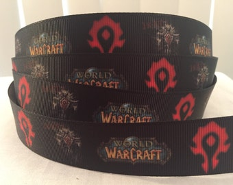 1 yard 1 inch World of Warcraft Video Game MovieGrosgrain Ribbon - Bow Making Ribbon - ComiCon - 25mm Hoard