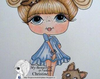INSTANT DOWNLOAD Digital Digi Stamps Big Eye Big Head Dolls NEW Bestie Cat Ladies IMG857 3 My Besties  By Sherri Baldy