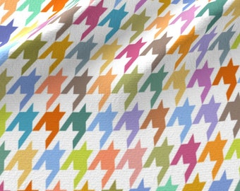 Rainbow Houndstooth Fabric - Houndstooth! By Vo Aka Virginiao - Colorful Houndstooth Home Decor Cotton Fabric By The Yard With Spoonflower