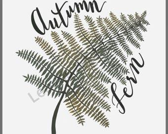 Autumn Fern - Fine Art Print on Somerset Velvet Paper