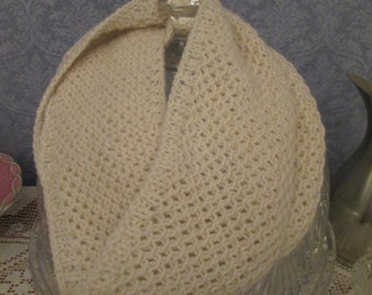 Ivory Cashmere Cowl Hand-knit