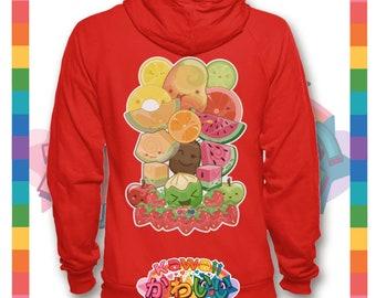 Univers kawaii - Cute classique Fruits groupe Designer Sweat à capuche / Pull (unisexe)