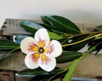 Flower, blossom of ceramic, sculpture