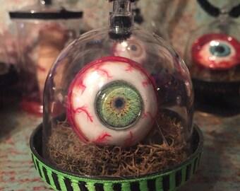 Human Eye Halloween Ornament Creepy Scary Bloody OOAK Handcrafted