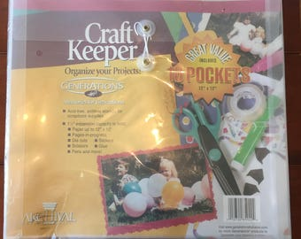 """Craft Keeps Value 10 Pack Organize Your Projects, Generations bu Hazel, Archival, 10 12"""" x 12"""" Pockets Acid Free for Archival Storage"""