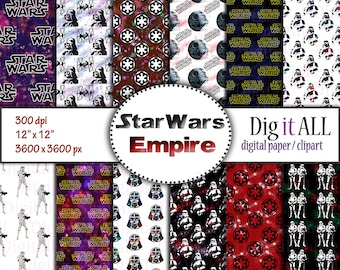 star wars inspired digital paper empire print paper dark side digital download space paper night sky background universe pattern