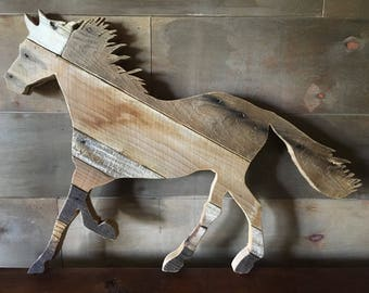 Reclaimed Wood Horse